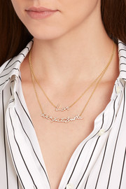 Stephen Webster + Tracey Emin Love 18-karat gold diamond necklace