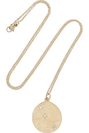 Aries 14-karat gold diamond necklace