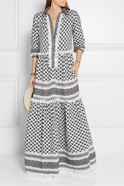 Tasseled cotton-gauze maxi dress
