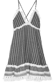 Dodo Bar Or Tasseled cotton-gauze dress