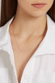 Bar 18-karat rose gold diamond necklace