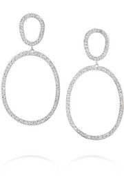 Again Single 18-karat white gold diamond earrings