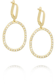 Mini Again 18-karat gold diamond earrings