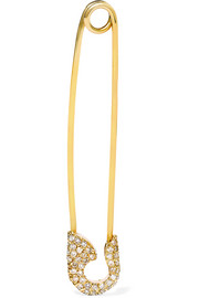 Safety Pin 18-karat gold diamond earring