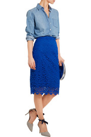Collection Liola guipure lace pencil skirt