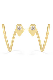 Maria Black Fine Jewelry La Verne Twirl 18-karat gold diamond earrings