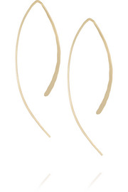 14-karat gold wishbone earrings