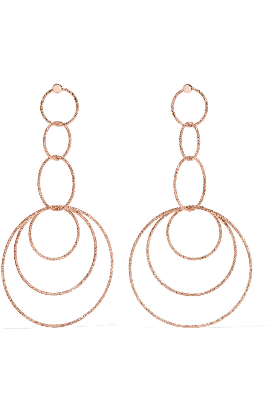 Carolina Bucci 18-Karat Rose Gold Earrings, Women's