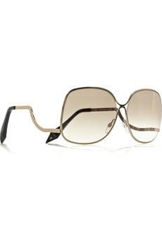 Victoria Beckham|Square-frame metal sunglasses|NET-A-PORTER.COM