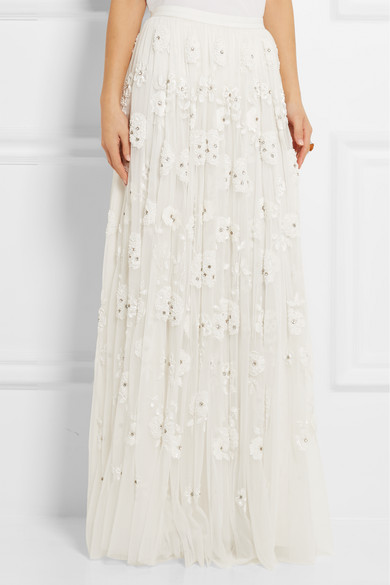 d76b6d29c4 Needle & Thread | Embellished tulle maxi skirt | NET-A-PORTER.COM