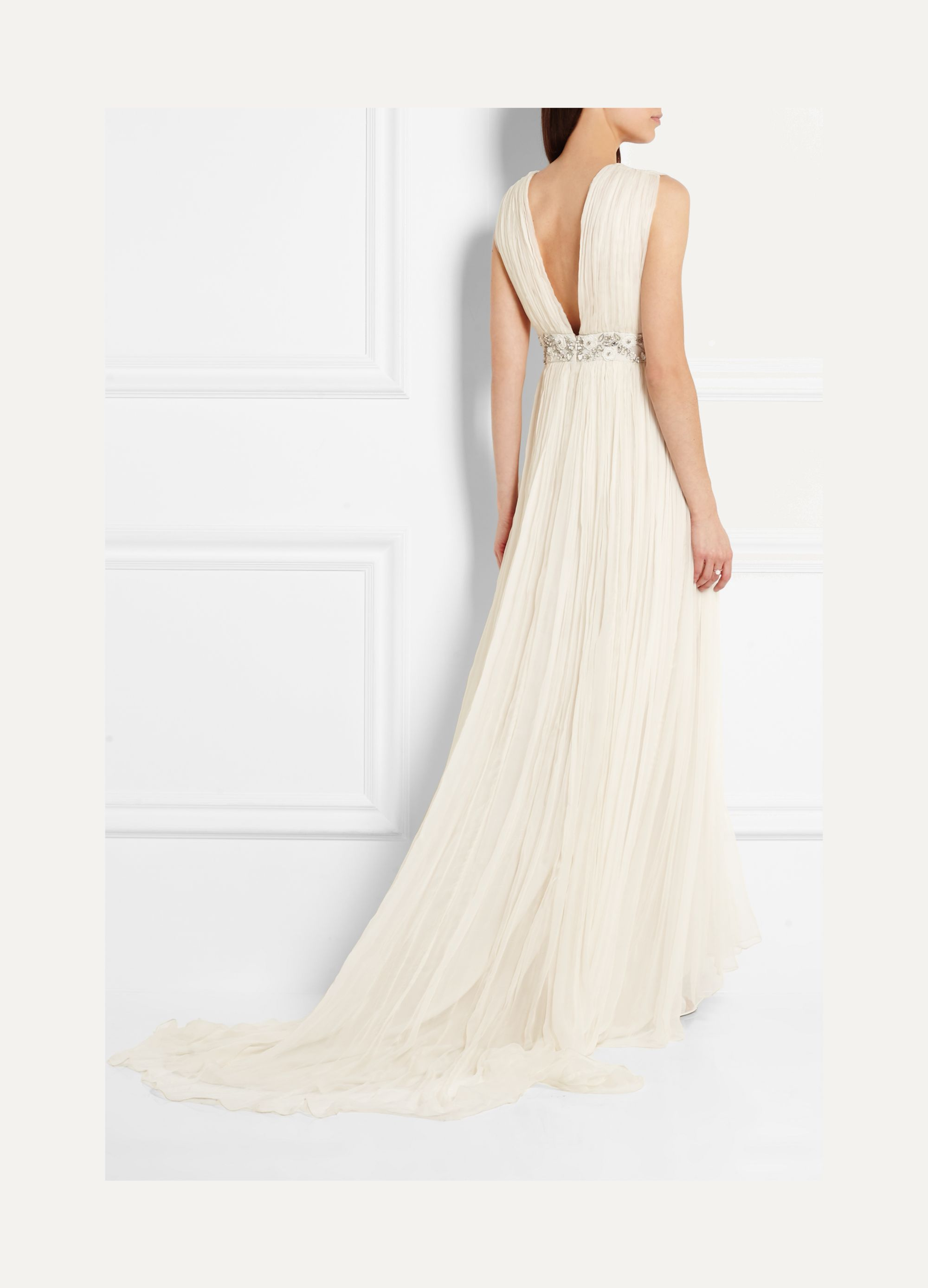 Needle & Thread Embellished chiffon gown