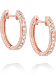 Huggy 18-karat rose gold diamond earrings