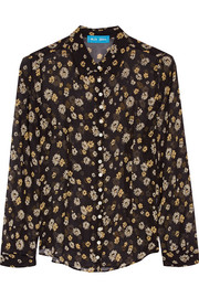 Printed silk-georgette shirt