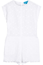 Broderie anglaise cotton playsuit
