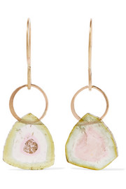 14-karat gold tourmaline earrings