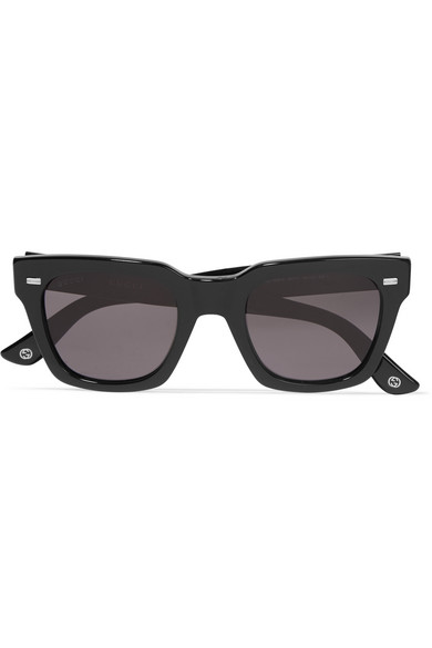 Gucci - Square-frame Acetate Sunglasses - Black