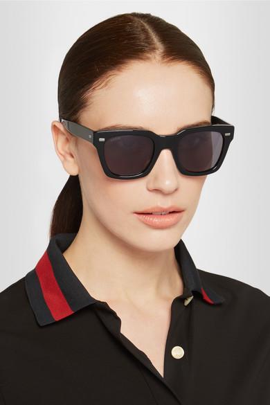 Square-frame acetate sunglasses Gucci N8PL6CA5x