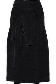 Knot wool midi skirt