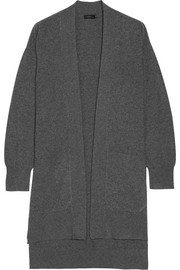 Draped wool cardigan