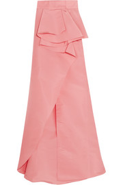 Johanna Ortiz Petal ruffled silk-faille skirt