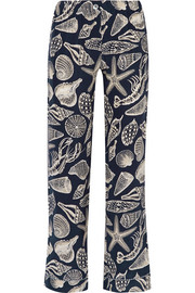 Frantz printed silk-satin pajama pants