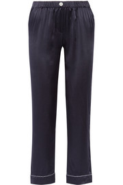 Frantz silk-satin pajama pants