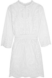 Evangelista embroidered cotton mini dress