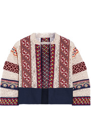 Echem embroidered cotton-canvas and crocheted jacket