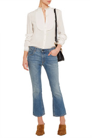 Vanessa Bruno Engel georgette-trimmed silk crepe de chine blouse