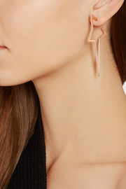 Star 18-karat rose gold diamond earrings