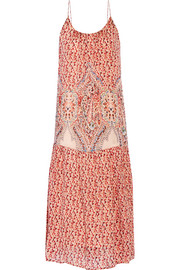 Mes Demoiselles Alhambra printed silk midi dress