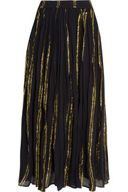 Bosphore cotton-blend gauze maxi skirt