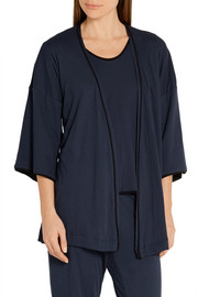 Karen Pima cotton-jersey robe
