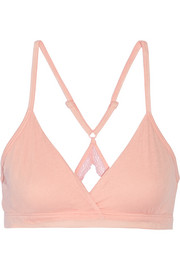 Pima cotton soft-cup bra