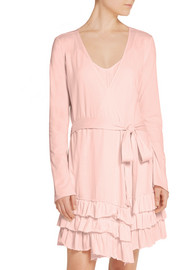 Grace ruffled Pima cotton robe