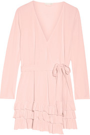 Skin Grace ruffled Pima cotton robe