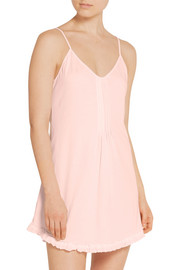 Ruffled cotton-jersey chemise