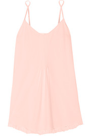 Skin Ruffled cotton-jersey chemise