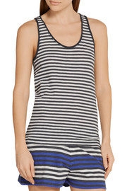 Kathie striped cotton-jersey pajama top