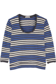 Skin Brigitte striped cotton-jersey pajama top