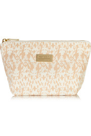 Aurelia Probiotic Skincare Signature printed cotton-canvas cosmetics case