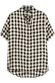 Courier checked twill shirt