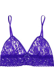 Signature stretch-lace soft-cup bra