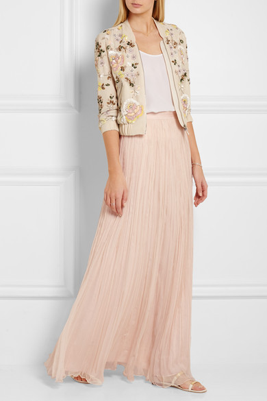 797b88180a Needle & Thread | Crinkled-chiffon maxi skirt | NET-A-PORTER.COM