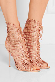 Sophia Webster Delphine metallic leather sandals
