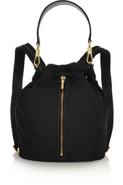 Cynnie Sling convertible leather-trimmed shell backpack