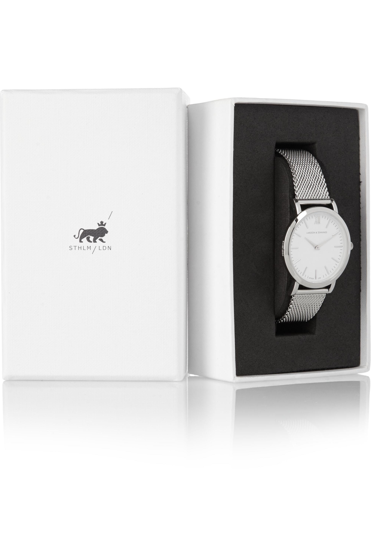 Larsson & Jennings Liten silver-plated watch