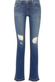 Brya distressed mid-rise bootcut jeans