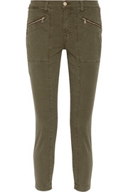 Genesis stretch-cotton twill skinny pants