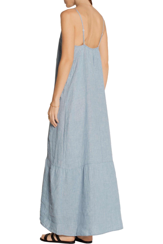 J Brand Maureen linen-chambray maxi dress